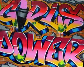 Graffiti der Schloss-Realschule für Mädchen Stuttgart